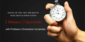 2 Minutes, 3 Questions with Prof Christopher Kyriakides